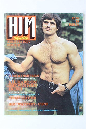 Him Monthly Magazine #37 1981 Lou Ferrigno Vintage Gay Interest Lifestyle Street
