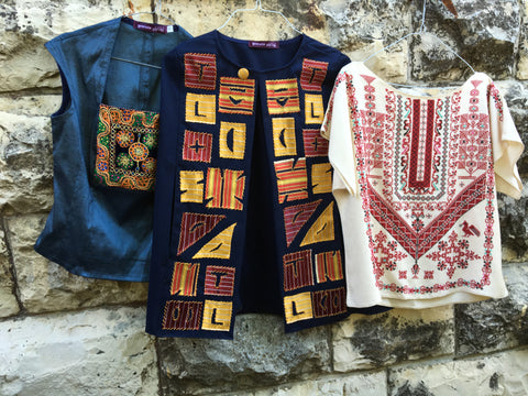 Taita Leila's set of handmade embroidery from the Qabbeh Collection for BPFF