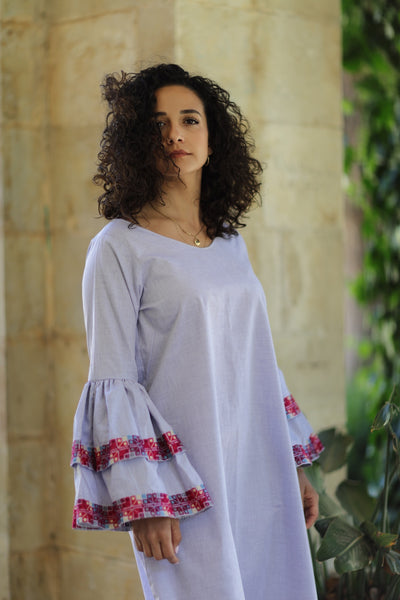 Taita Leila Irdan collection hand embroidery Palestinian Bir sabaa dress