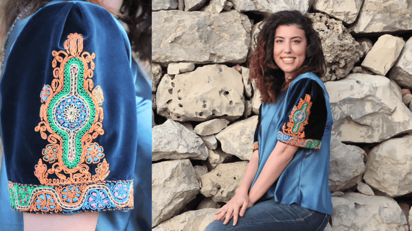 Taita Leila Bethlehem Crowdfunding watches blouse