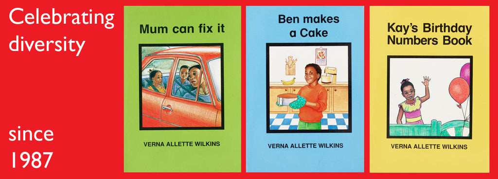 Screen shots of earlier Verna Wilkins' books