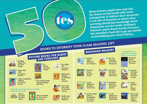 Times Literary Supplement 50 books to diversify your classroom poster