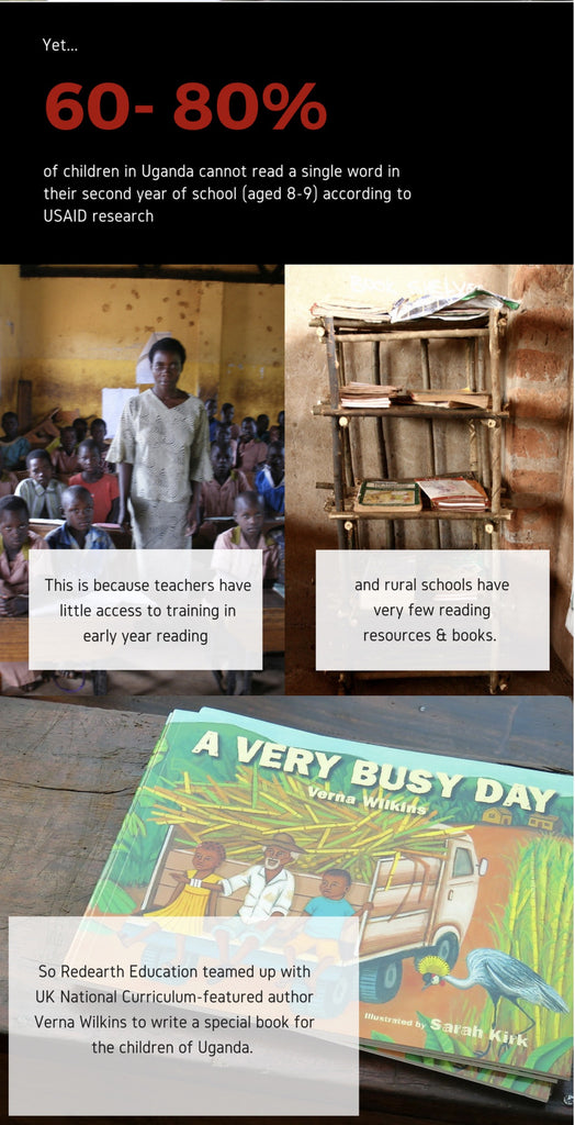 A very busy day - our Ugandan book project