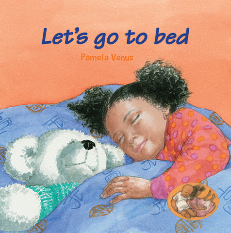 Let's go to bed book cover with sleeping black girl