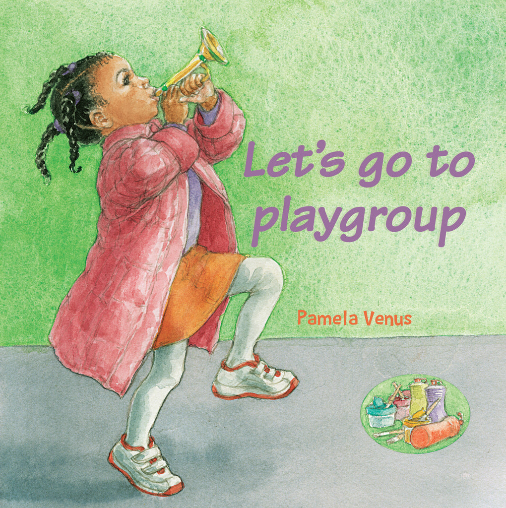 Let's go to playgroup book cover with little black girl