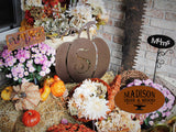 Monogram Pumpkin Decor, Fall Decoration Art, Metal Letter Autumn Decoration.