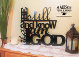 Metal Bible Verse Sign, Be still and Know that I am God