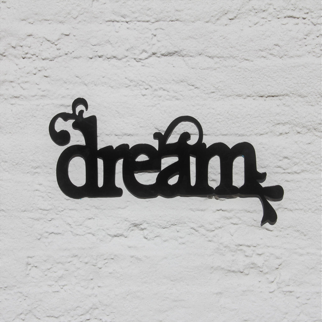 Dream Metal Home Decor, Word Wall Art