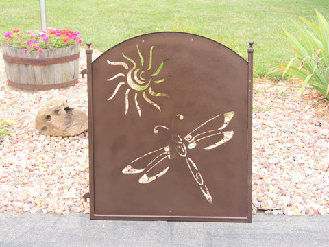 Garden or Entry Gate, Garden Fence Door, Dragonfly Sun Design