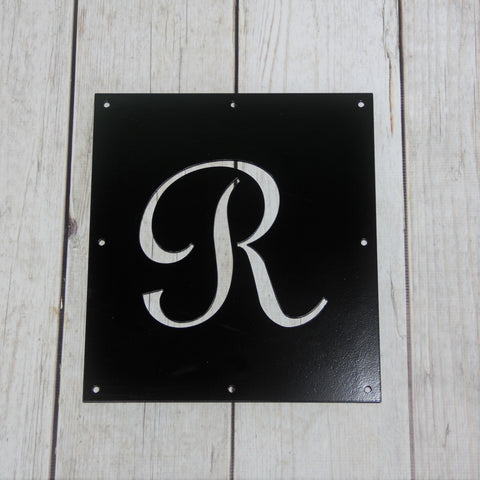 Monogram Steel Insert Window for Wood Gate, Letter Gate