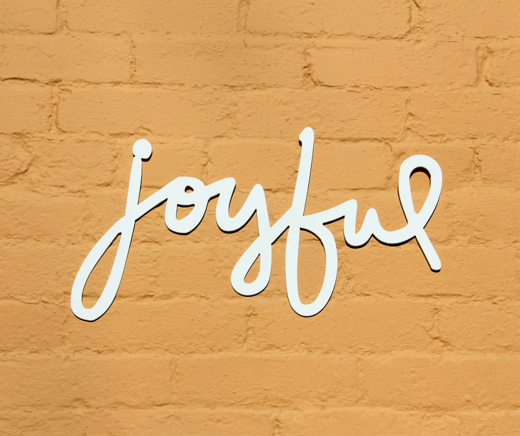 Joyful Metal Home Decor Sign – Madison Iron and Wood