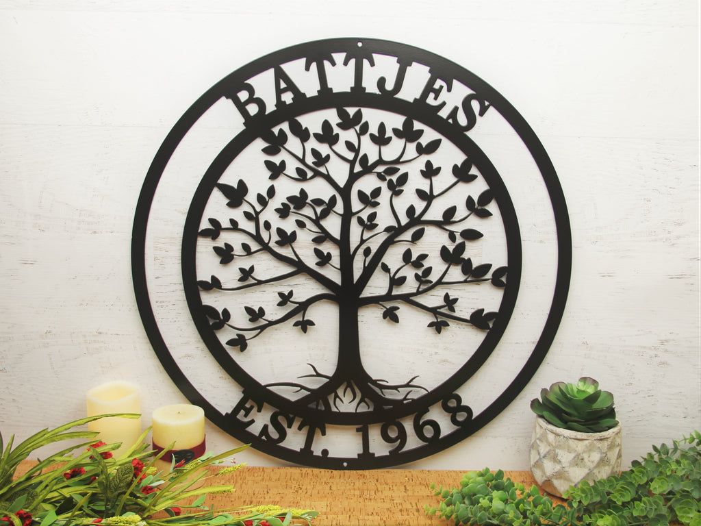 Tree of Life Family Wall Decor