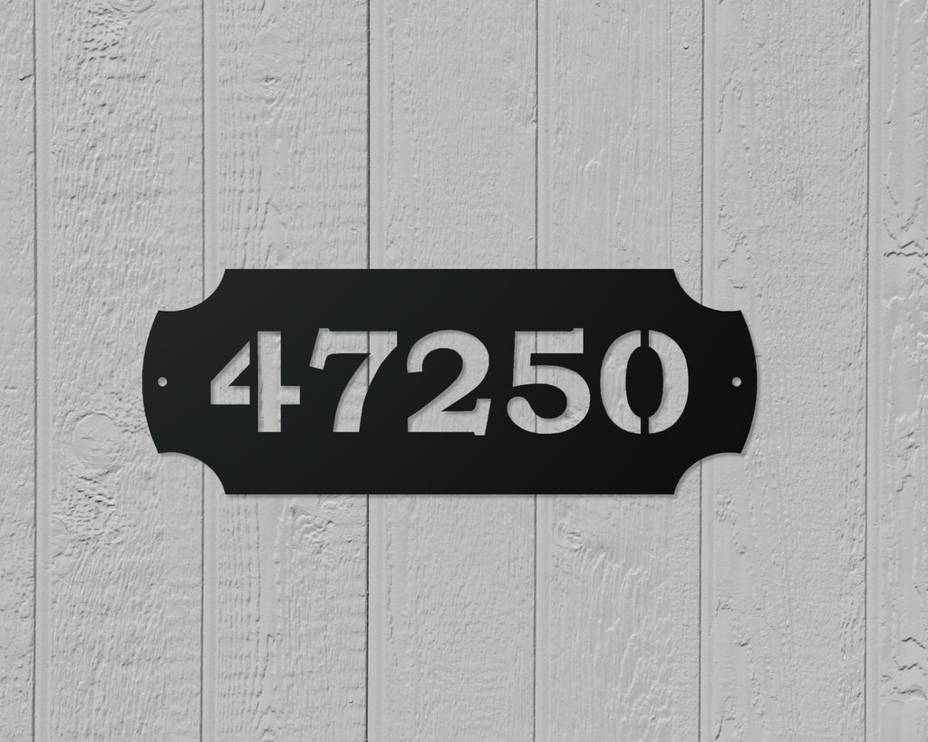 Colonial House number sign