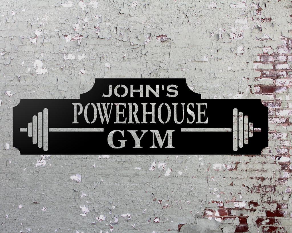 Personalized Gym Sign