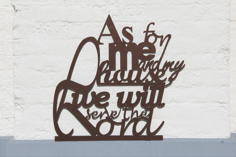 As for me and my house we will serve the Lord, Metal Home Decor