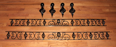 Bed Headboard Insert and Bed Post Knobs
