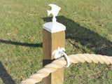 White fish fence post cap