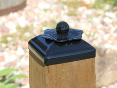 6x6 Post Cap for Wood Post, Flower Rosette Fence Top