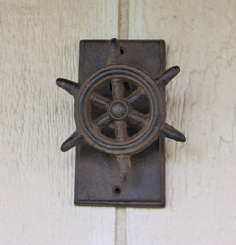 Cast Iron Ship Wheel Door Knocker