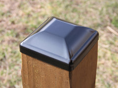 "Heavy Duty Steel Post Cap for 6""x6"" Wood Post, Fence Post Cap"