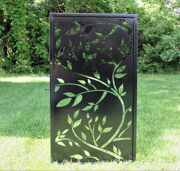 Tree Leaf Design Steel Gate Decorative Tall Fence Gate