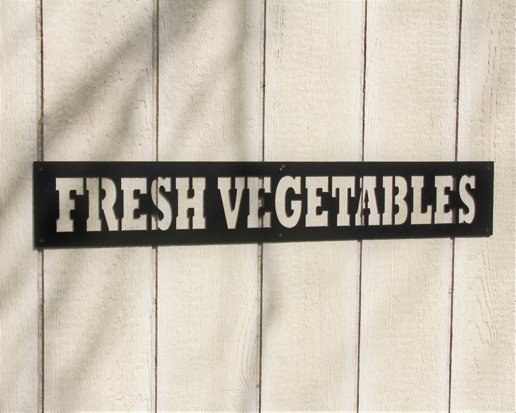 Fresh Vegetables Metal Sign