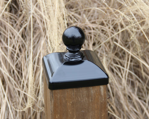 Cannonball Post Cap for 6x6 Wood Fence Post