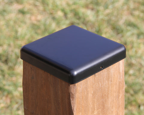 Flat Top Steel Post Cap for 6x6 Wood Fence Post