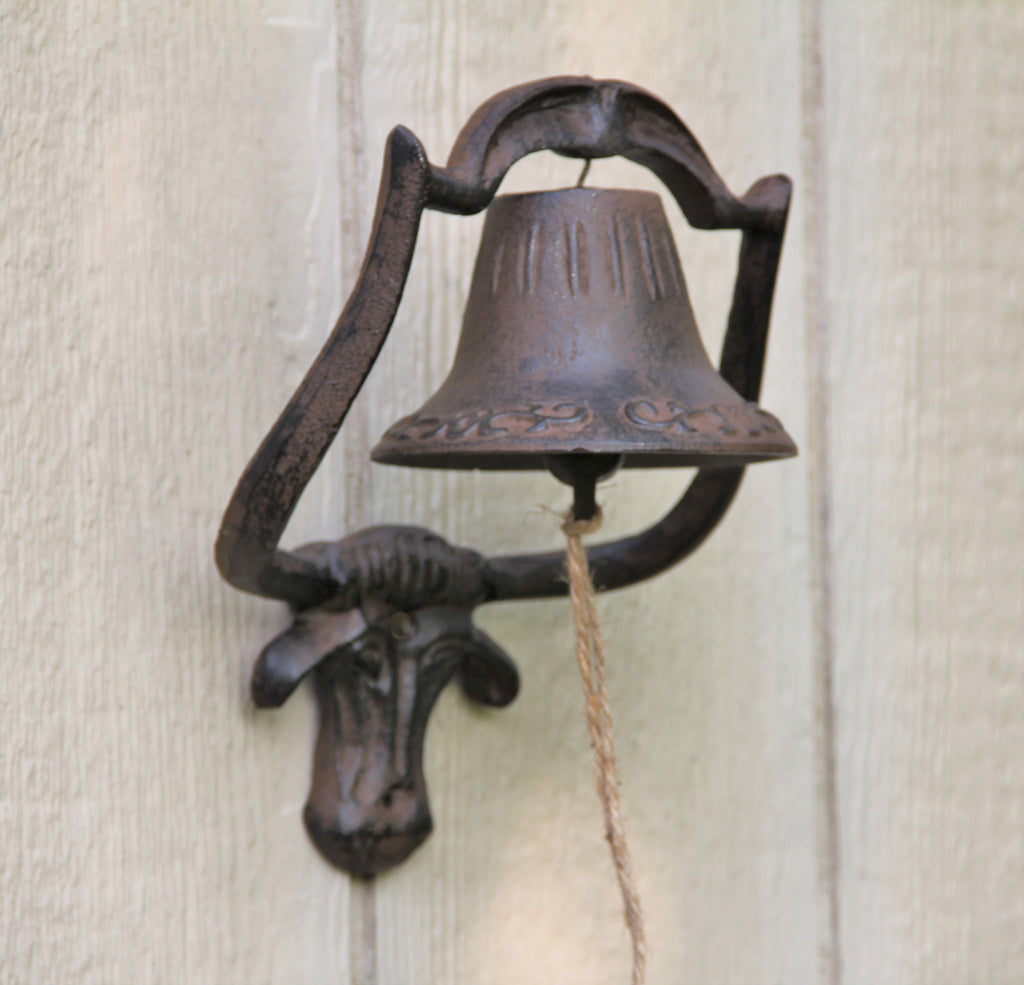 Large Cast Iron Steer Ranch Bell