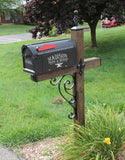 Scrolled mailbox accessory kit for 4x4 wood mailbox post