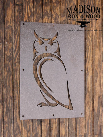Owl Steel Insert Window for Wood Gate, Owl Gate