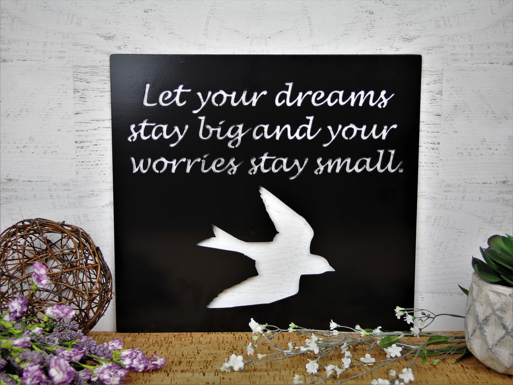 Dreams Stay Big Metal Wall Decor