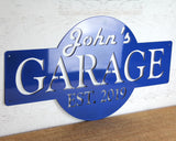 Blue Garage Sign