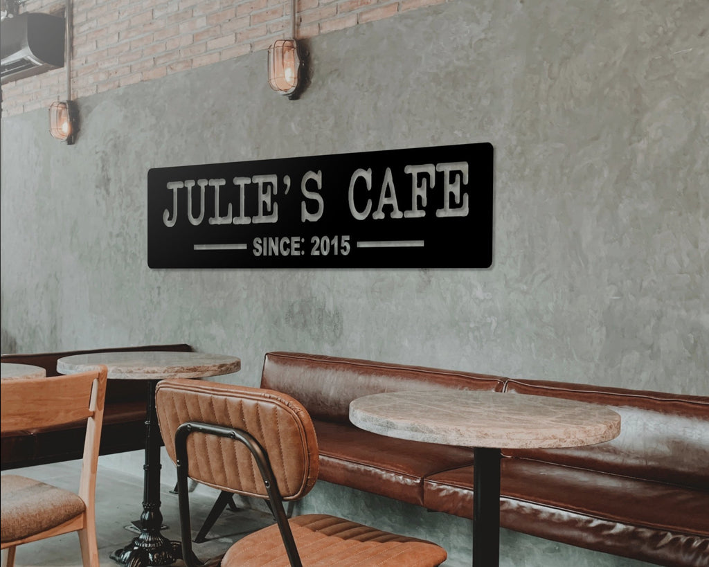 personalized cafe wall sign