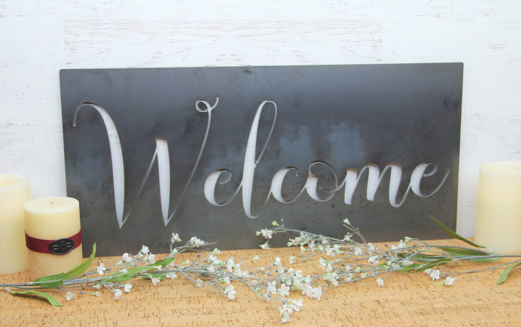 Steel Welcome Sign