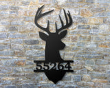 Deer head address sign