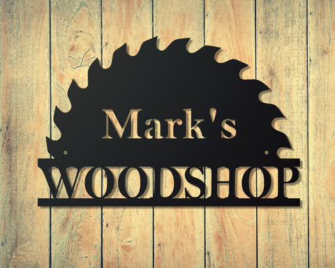 Woodshop sign