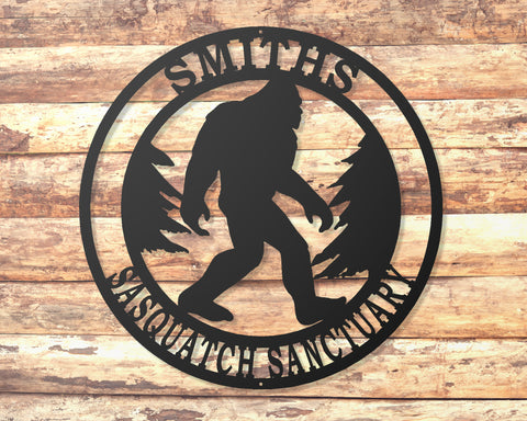 Sasquatch Personalized Sign