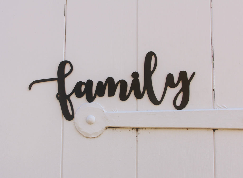 Family Metal Home Decor