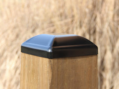 "Heavy Duty Steel Post Cap for 6""x6"" Wood Post"