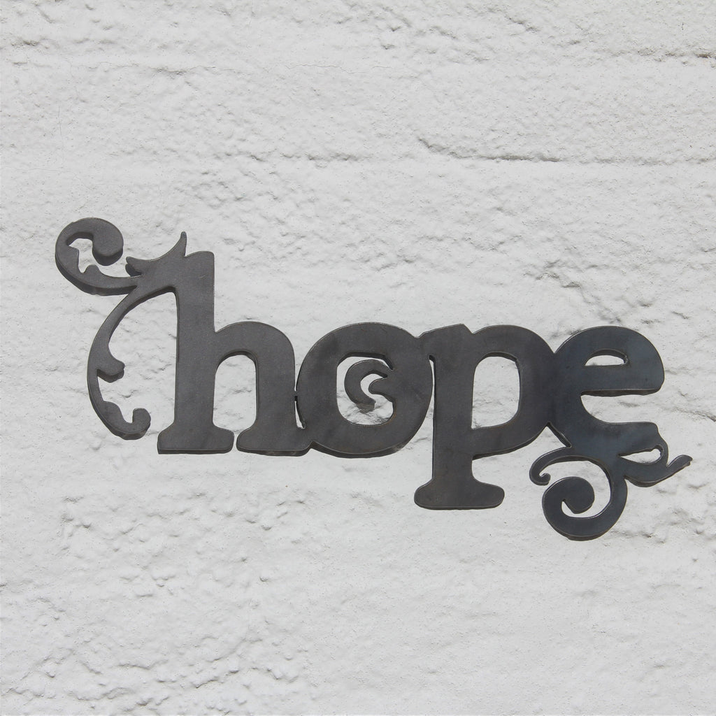 Hope Metal Home Decor, Word Wall Art, Nursery Room Sign