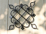 Large Decoratively Hand forged and Scrolled Steel Panel