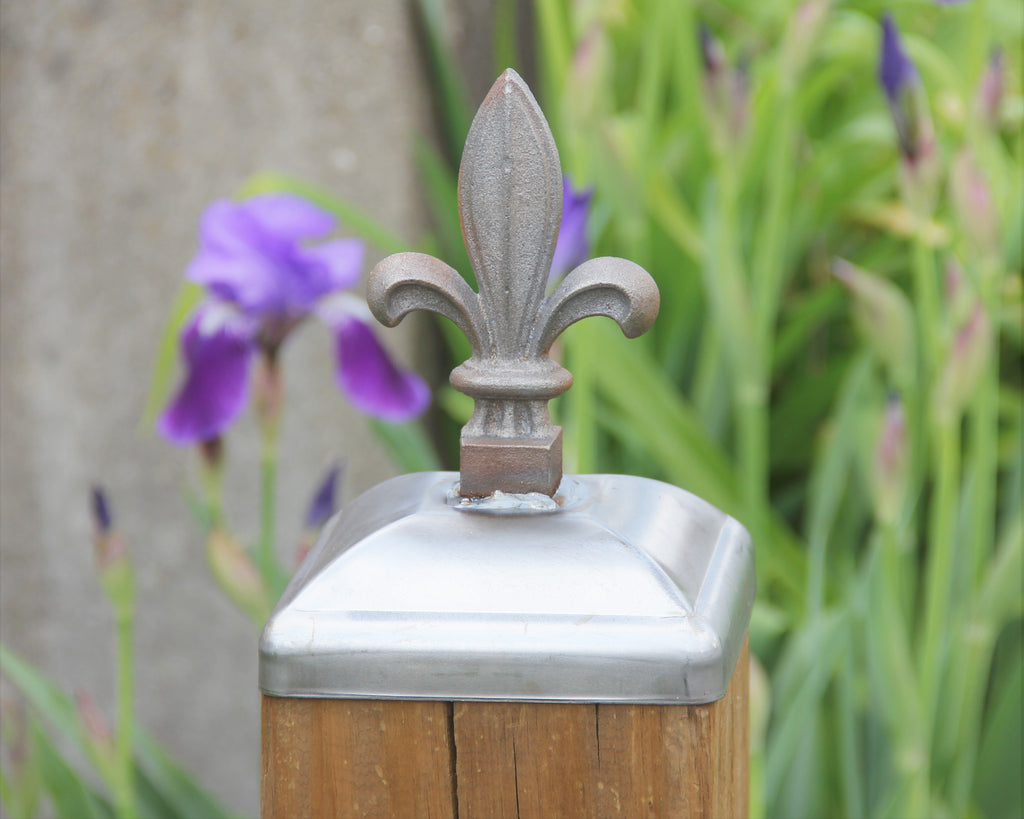 6x6 Post Cap - Budding Fleur-De-Lis Post Cap for 6x6 Wood Post