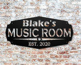 Personalized Music Room Sign