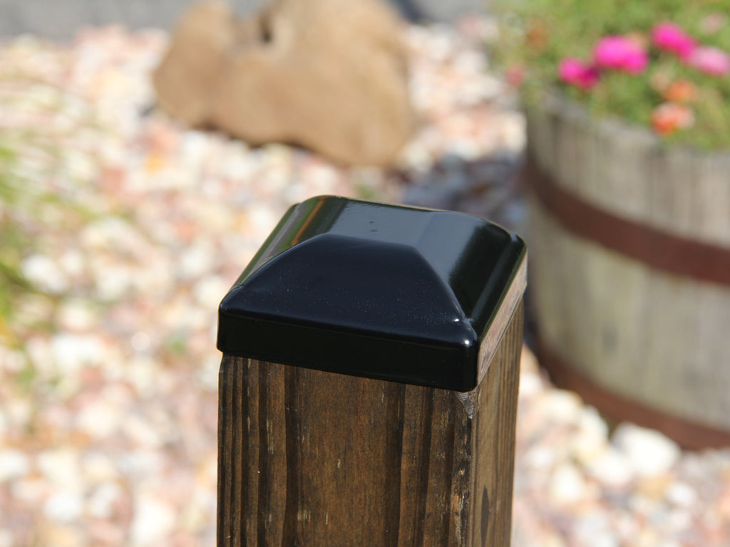 Steel Post Cap for 4x4 Wood or Composite Posts