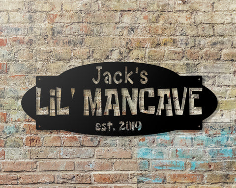 LiL Mancave Personalized Sign