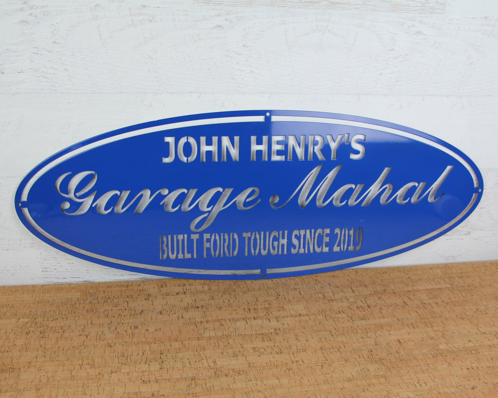 Garage Mahal personalized Sign