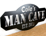 Mancave sign in Black