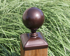 "6x6 Fence Post Cap, Large 5"" Cannonball Post Top"