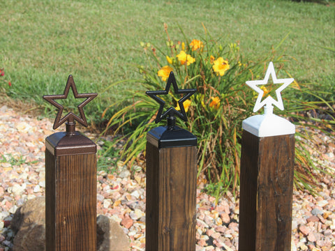 Star fence post caps